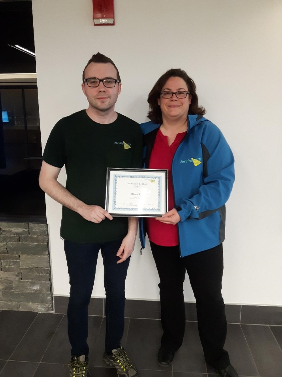 Employee of the Month - April 2018 Blake V.